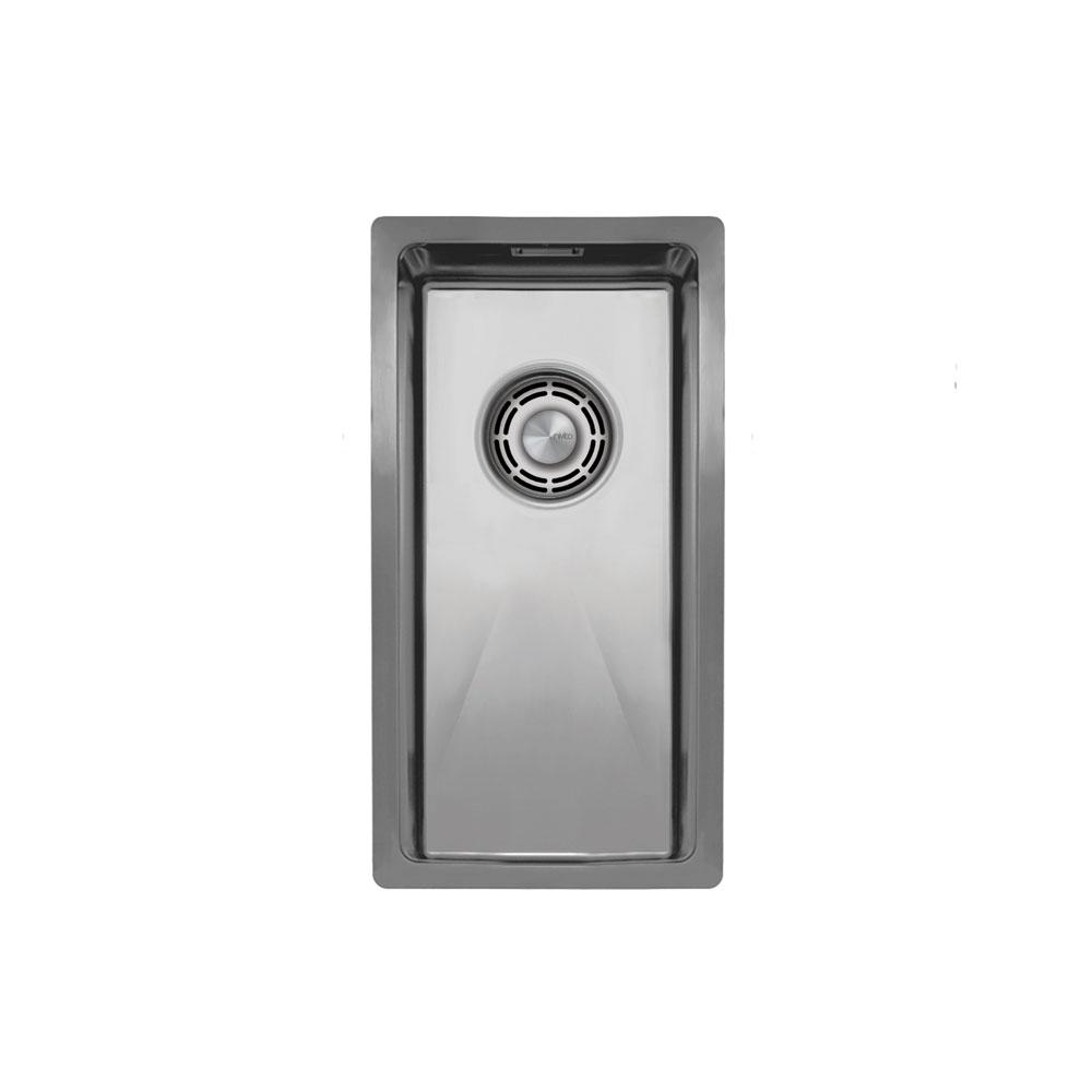 Nerezová Oceľ Kuchyňa Povodia - Nivito CU-180-B Brushed Steel Strainer ∕ Waste Kit Color