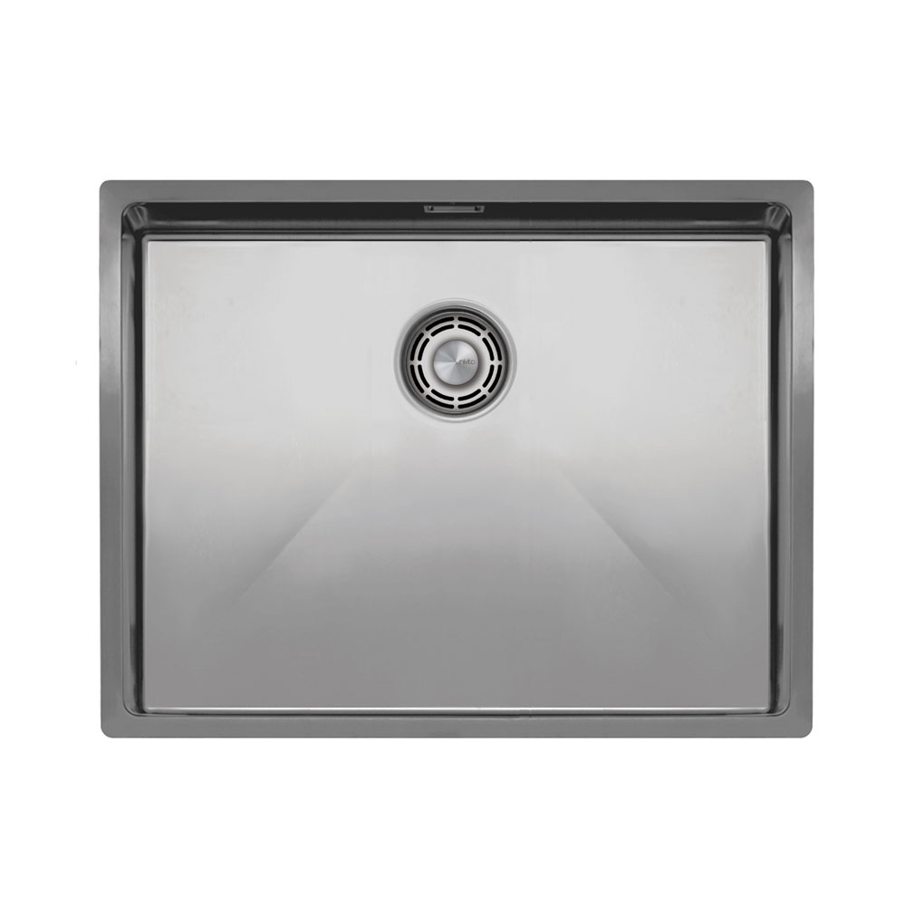 Nerezová Oceľ Kuchyňa Povodia - Nivito CU-550-B Brushed Steel Strainer ∕ Waste Kit Color