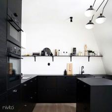 Čierne Kuchyna Kohútik - Nivito 13-RH-320