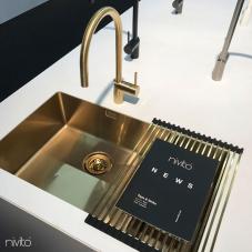 Mosadz/Zlaté Kuchyňa Umývadlo - Nivito 1-CU-500-180-BB