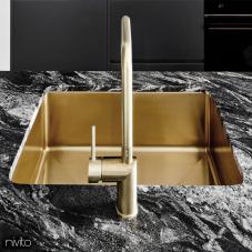 Zlate mosadz kuchyna umývadlo