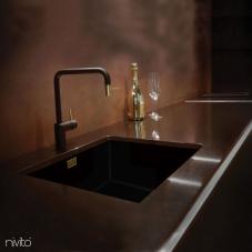 Mosadz/Zlaté Kuchyna Kohútik Čierna/Zlatá/Mosadz - Nivito 2-RH-340-BISTRO