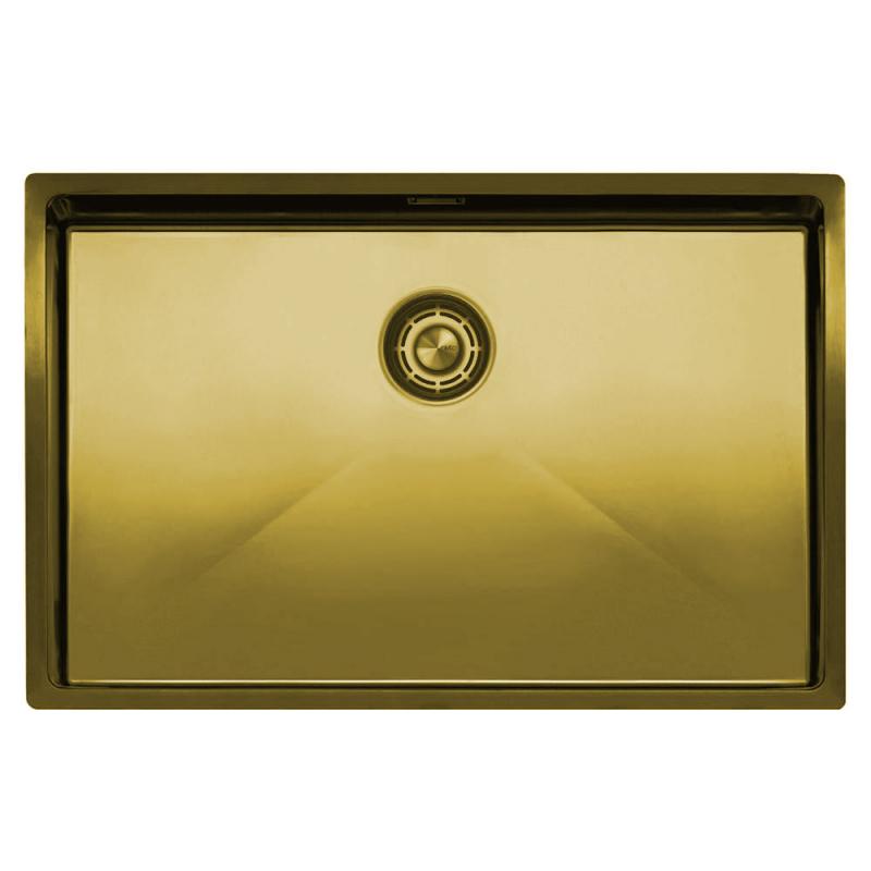 Mosadz/Zlaté Kuchyňa Umývadlo - Nivito CU-700-BB