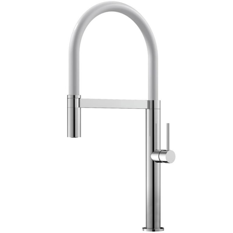 Kuchyna Kohútik Výsuvná hadica / Leštené/Biele - Nivito SH-310