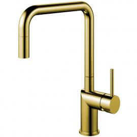 Mosadz/Zlaté Kuchyňa Vodovodný Kohútik Výsuvná hadica - Nivito RH-340-EX