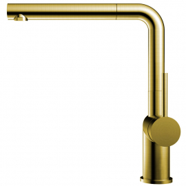 Mosadz/Zlaté Kuchyňa Vodovodný Kohútik Výsuvná hadica - Nivito RH-640-EX