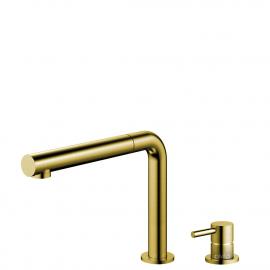 Mosadz/Zlaté Kuchyňa Vodovodný Kohútik Výsuvná hadica / Oddelené Telo/potrubie - Nivito RH-640-VI