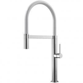 Kuchyňa Vodovodný Kohútik Výsuvná hadica / Leštené/Biele - Nivito SH-310